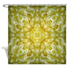 White Petal Print Shower Curtain