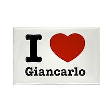 I love Giancarlo Rectangle Magnet