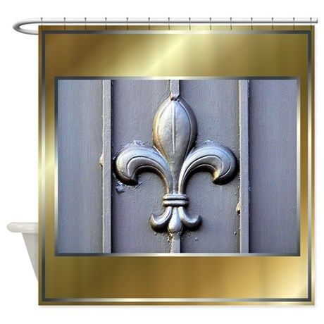 Fleur de lis 2 shower curtain by mugglefunds - Fleur de lis shower curtains ...