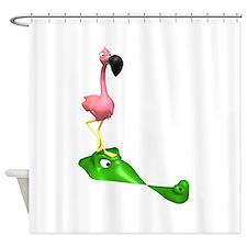 Flamingo & Gator Shower Curtain