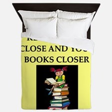 book lovers joke Queen Duvet