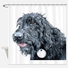 Black Labradoodle #3 Shower Curtain