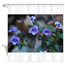 Blue Violets Shower Curtain