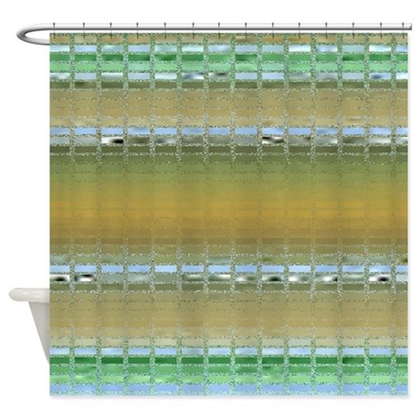Earth Tone Mosaic Shower Curtain