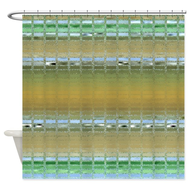 Earth Tone Mosaic Shower Curtain By Outofdomsmind