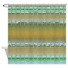 Earth Tone Mosaic Shower Curtain