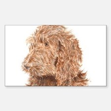 Chocolate Labradoodle 5 Decal