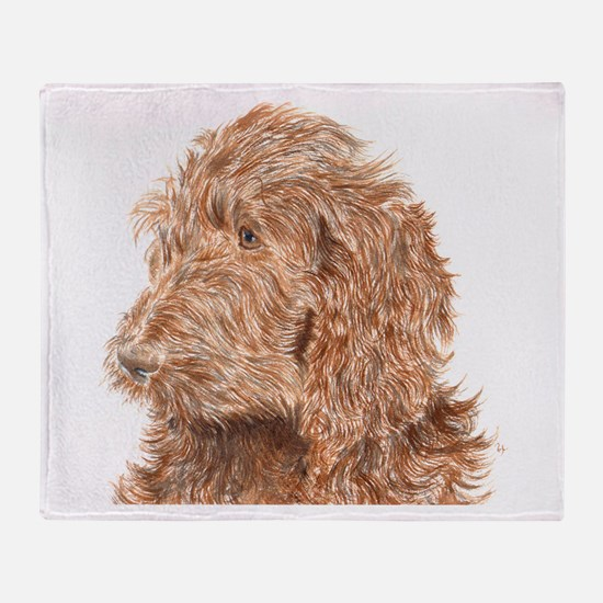 Chocolate Labradoodle 5 Throw Blanket