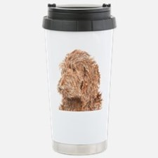 Chocolate Labradoodle 5 Stainless Steel Travel Mug