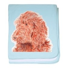 Chocolate Labradoodle 5 baby blanket
