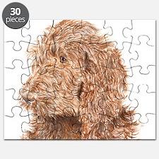 Chocolate Labradoodle 5 Puzzle
