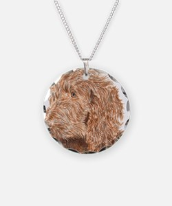 Chocolate Labradoodle 5 Necklace