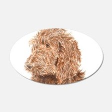 Chocolate Labradoodle 5 Wall Decal