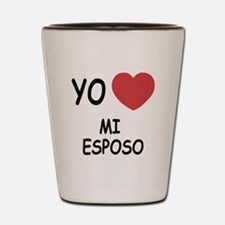 yo amo mi esposo Shot Glass