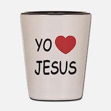 yo amo Jesus Shot Glass
