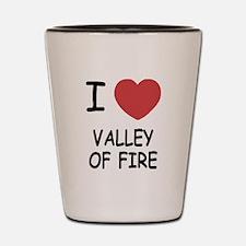 I heart valley of fire Shot Glass