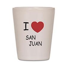 I heart san juan Shot Glass