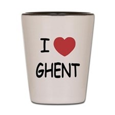 I heart ghent Shot Glass