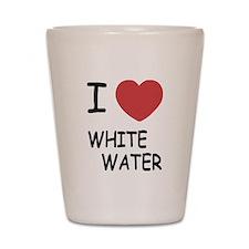 I heart whitewater Shot Glass