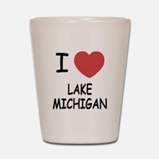 I heart lake michigan Shot Glass