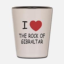 I heart rock of gibraltar Shot Glass