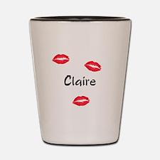 Claire kisses Shot Glass