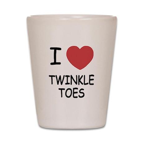 I heart twinkle toes Shot Glass
