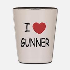 I heart gunner Shot Glass