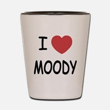 I heart moody Shot Glass