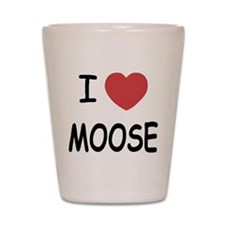 I heart moose Shot Glass