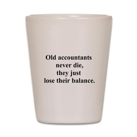 old accountants Shot Glass