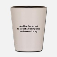 archimedes Shot Glass