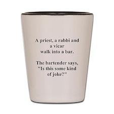 a bar joke Shot Glass