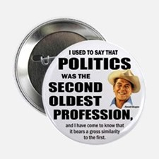 "Politics - The second oldest profession 2.25"" Butt"