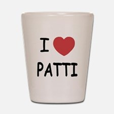 I heart patti Shot Glass