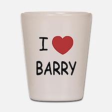 I heart barry Shot Glass