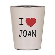 I heart joan Shot Glass