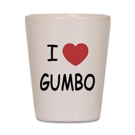 I heart gumbo Shot Glass