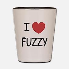 I heart fuzzy Shot Glass