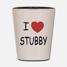 I heart stubby Shot Glass