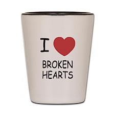 I heart broken hearts Shot Glass