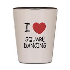 I heart squaredancing Shot Glass