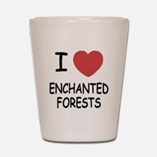 I heart enchanted forests Shot Glass