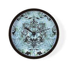 Blue Bee Garden Wall Clock