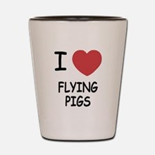 I heart flying pigs Shot Glass