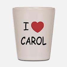 I heart carol Shot Glass