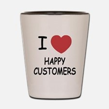 I heart happy customers Shot Glass