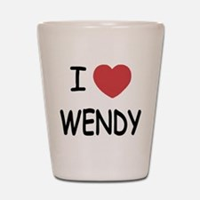 I heart wendy Shot Glass