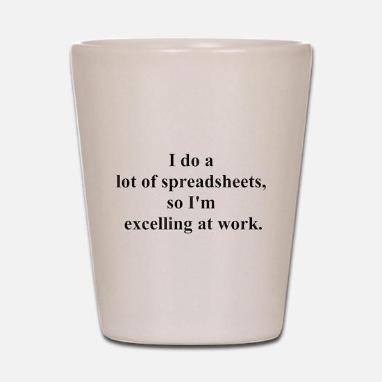 spreadsheet joke Shot Glass
