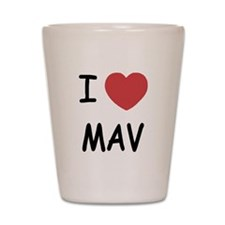 I heart mav Shot Glass
